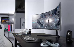 Dominate games in comfort with Samsung's Odyssey gaming monitors