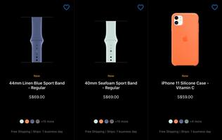 Apple Watch Sport Bands and silicone iPhone cases updated with new colours