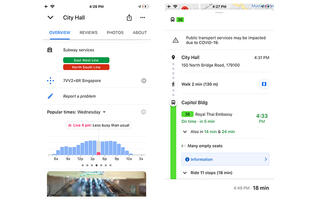 Google Maps is now able to show you popular times for an MRT station and if it's busy at the moment