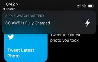 You will get a notification in iOS 14 when your Apple Watch is fully charged