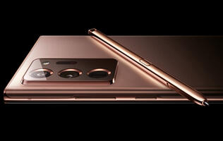 So this is what the Samsung Galaxy Note 20 and Z Flip 5G in the new bronze colour look like