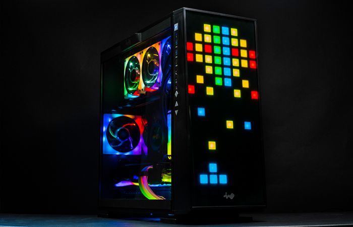 The Aftershock Trixel is an audacious celebration of RGB goodness and 8-bit graphics