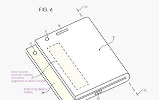 Apple's new patent shows folding iPhone with notification strip