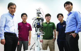 NUS researchers create artificial skin to help robots feel