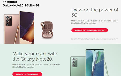 Singtel price plans for Galaxy Note20 and Note20 Ultra now available