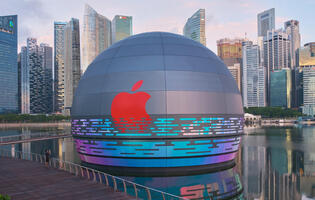 Apple's third store in Singapore will be opening soon at Marina Bay Sands