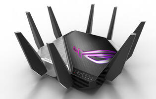 ASUS' new ROG Rapture GT-AXE11000 router is the world's first to support Wi-Fi 6E