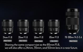 Panasonic adds four new prime lenses to its Lumix S series lens lineup
