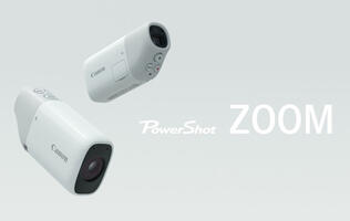 The Canon PowerShot Zoom is a monocular-style compact camera with 400mm optical zoom