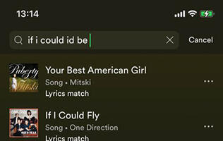 Spotify's mobile apps gain new search songs by lyrics function