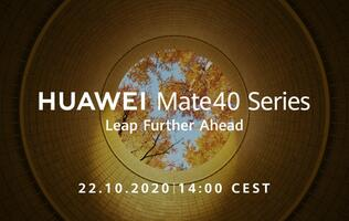 Huawei will unveil the Mate40 series on 22 October