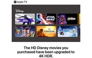 Apple is upgrading Disney movies purchased in HD to 4K HDR for free