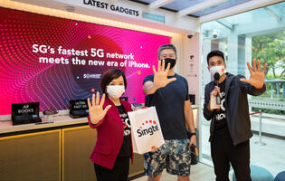 iPhone 12 and iPhone 12 Pro users collect their phones with telco fanfare and 5G access