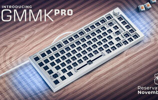 The Glorious GMMK Pro is a premium gasket-mounted 75% keyboard for enthusiasts