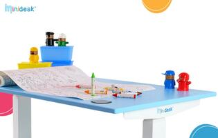 Omnidesk now has height-adjustable tables for kids, meet the Minidesk and Harmony