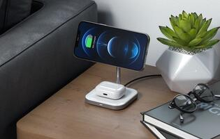 Satechi releases 2-in-1 magnetic wireless charging stand for the iPhone 12