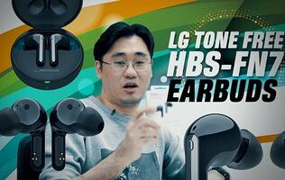 LG Tone Free HSB-FN7 true wireless earbuds: Unboxing & first impressions
