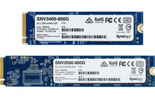Synology now offers 800GB M.2 NVMe SSDs and 10/25GbE network cards