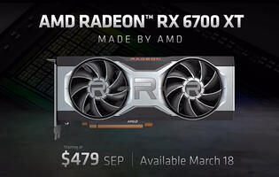 AMD announces Radeon RX 6700 XT graphics card, available from 18 March