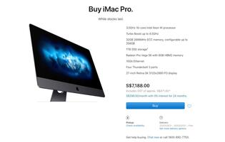Only the base model of iMac Pro is available now, while stocks last