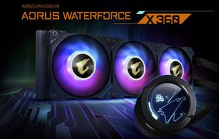 Gigabyte's new Aorus WaterForce X AIO liquid cooler supports Intel's upcoming Alder Lake socket