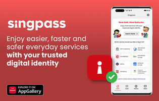 Singpass app is finally ready and available in Huawei's AppGallery