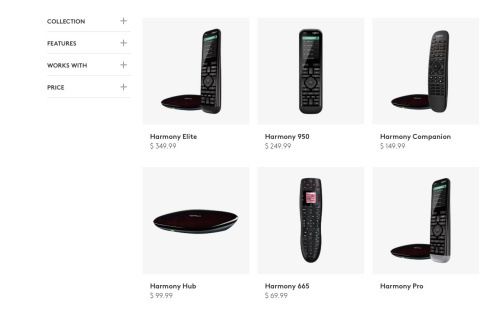 Logitech discontinues its Harmony remotes
