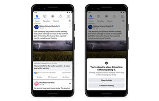 "Facebook starts ""read before sharing"" trial for Android users"