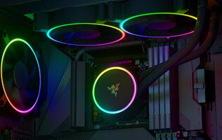 Razer enters the PC component space with a new case fan, AIO cooler and PSU