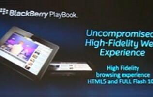 The PlayBook Tablet Unveiled @ BlackBerry's DevCon 2010