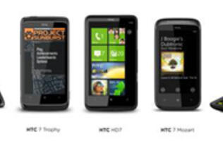 HTC Launches Five Windows Phone 7 Devices